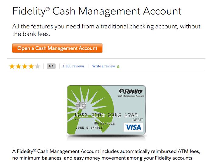 fidelity cash management account minimum balance
